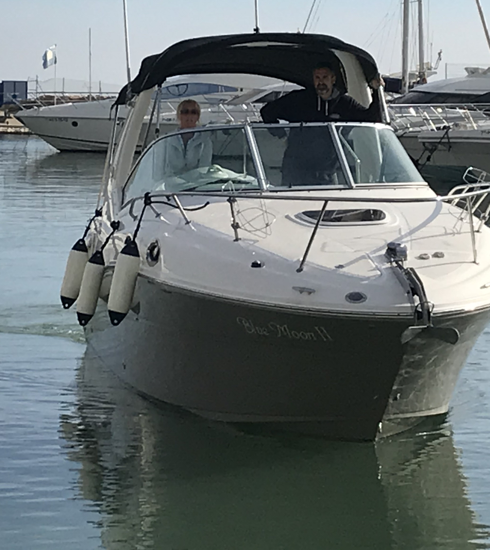 Manoeuvring around Campoamor Marina (Club Náutico Dehesa de Campoamor)  getting to know our new boat
